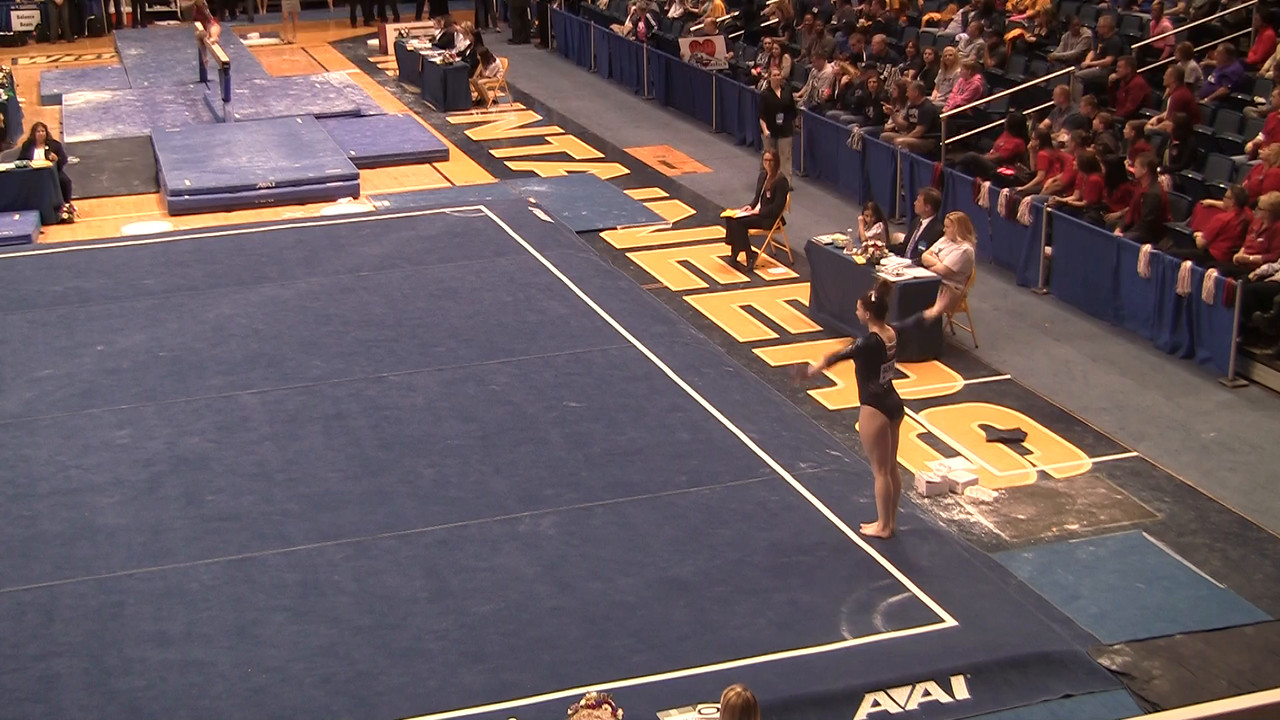 FX-Lia Breeden 9 825 at NCAA Regionals WVU 4 4 15