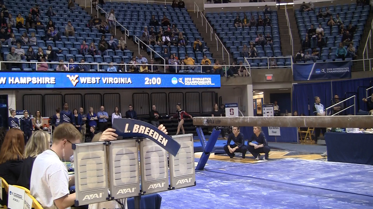 BB-Adrienne Hill 9 7 at NCAA Regionals WVU 4 4 15