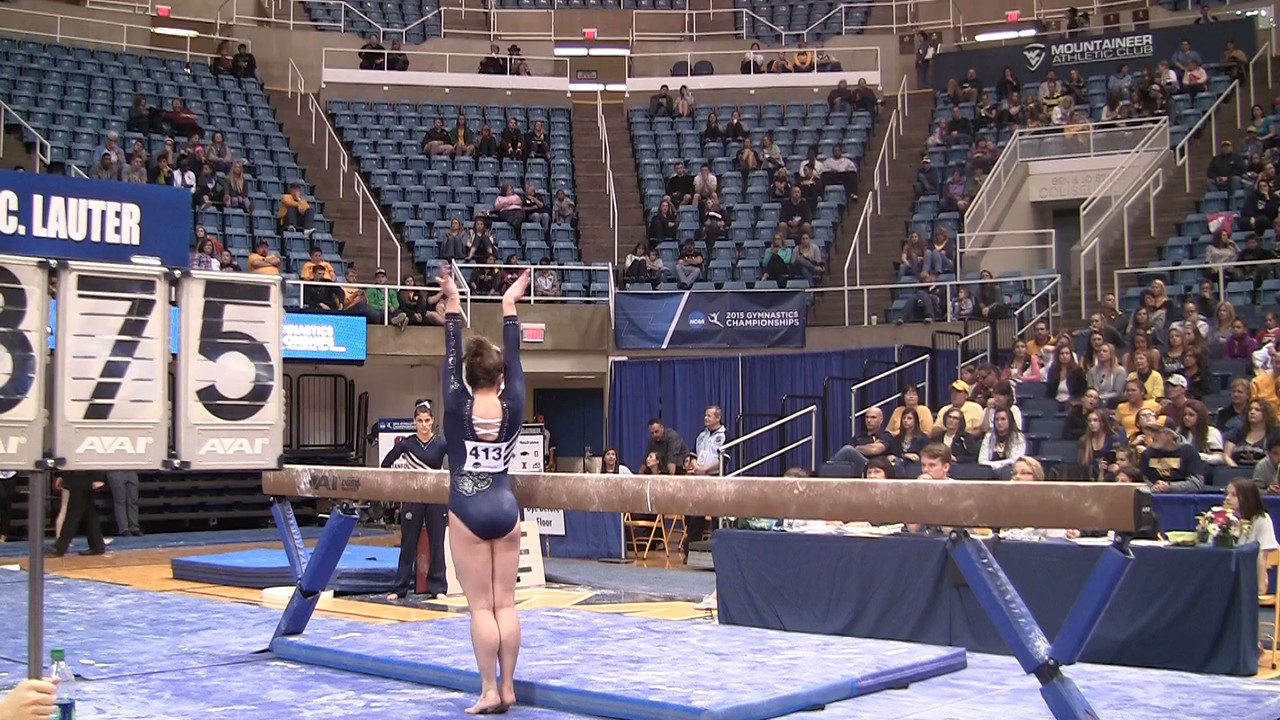 BB-Meghan Pflieger 9 85 at NCAA Regionals WVU 4 4 15