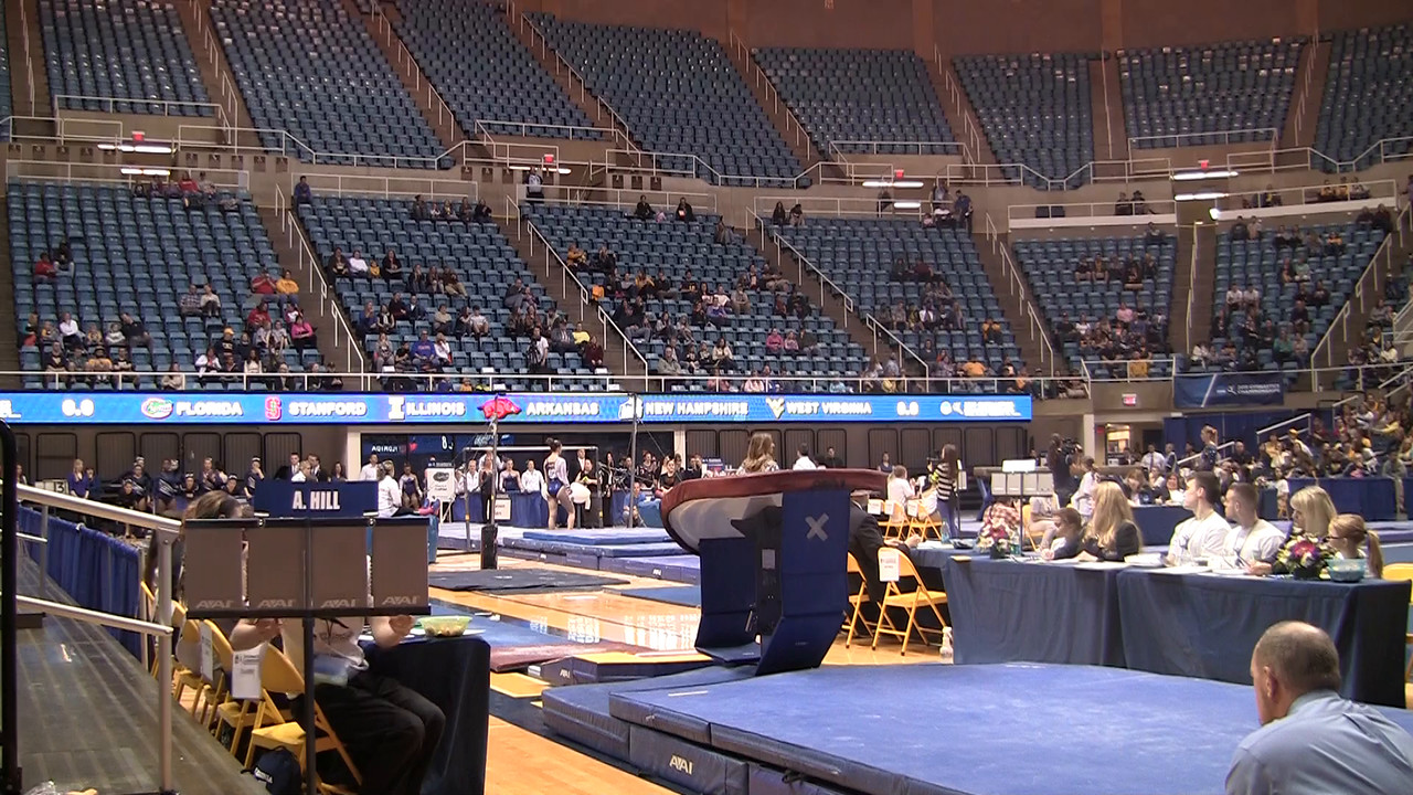 V-Adrienne Hill 9 7 at NCAA Regionals WVU 4 4 15